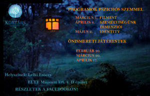 ELTE Kortárs Segítő Csoport - program plakát